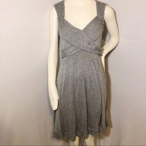 Bebe grey side zipper dress